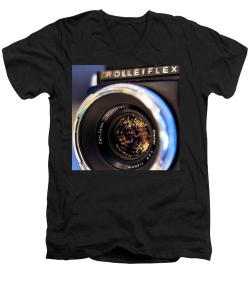 Rollei Champagne Men's V-Neck T-Shirt