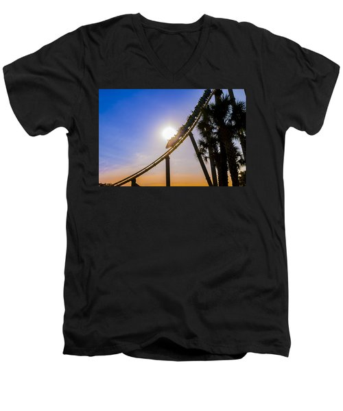 Roller Coaster Men's V-Neck T-Shirt