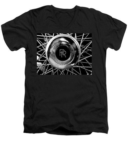 Rolls Royce - Black And White Men's V-Neck T-Shirt