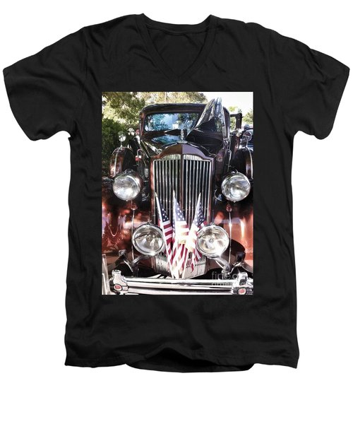 Rolls Royce Car  Men's V-Neck T-Shirt