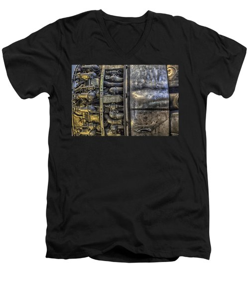 Rolls-royce Dart Turboprop Detail Men's V-Neck T-Shirt by Lynn Palmer