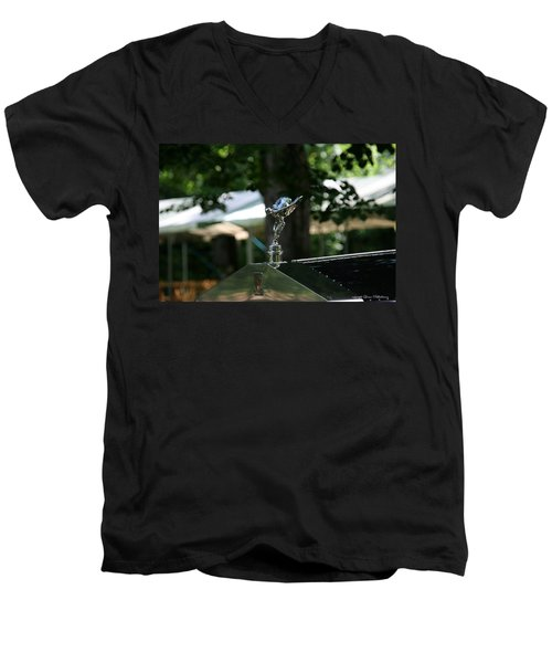 Rolls Royce Men's V-Neck T-Shirt by Leena Pekkalainen