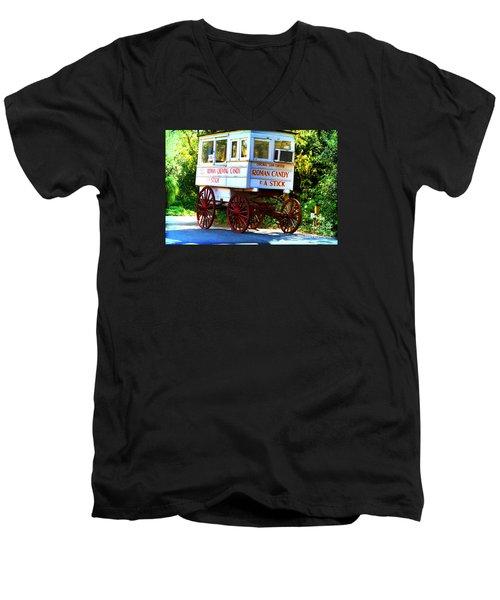 Roman Candy Men's V-Neck T-Shirt by Scott Pellegrin