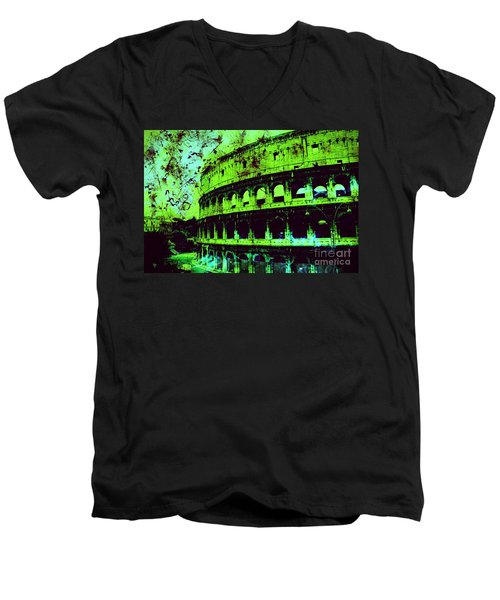 Roman Colosseum Men's V-Neck T-Shirt