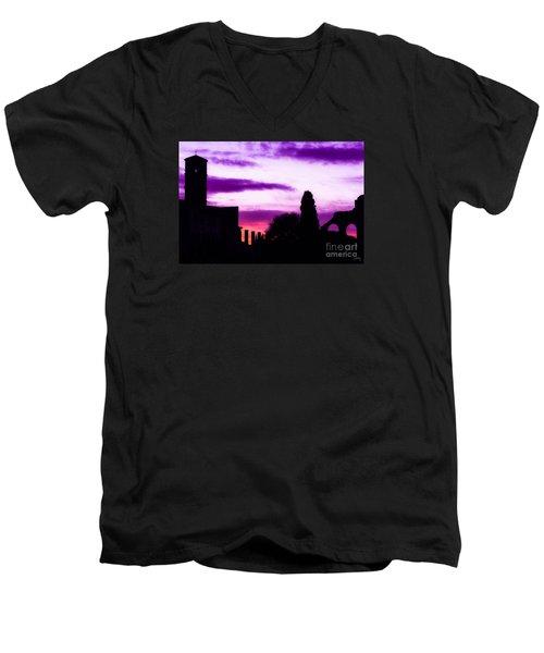 Roman Sunrise Men's V-Neck T-Shirt