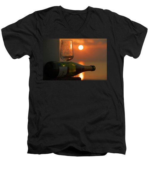 Men's V-Neck T-Shirt featuring the photograph Romance by Leticia Latocki
