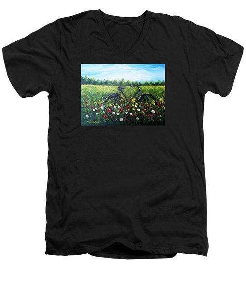 Romantic Break Men's V-Neck T-Shirt by Vesna Martinjak