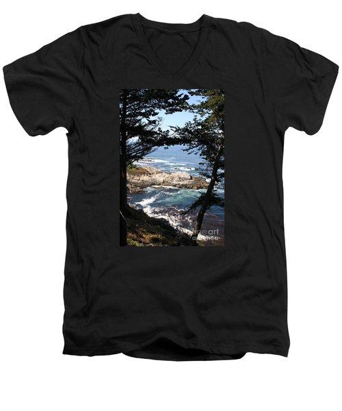 Romantic California Coast Men's V-Neck T-Shirt by Christiane Schulze Art And Photography