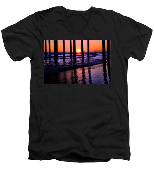 Men's V-Neck T-Shirt featuring the photograph Romantic Stroll by Tammy Espino