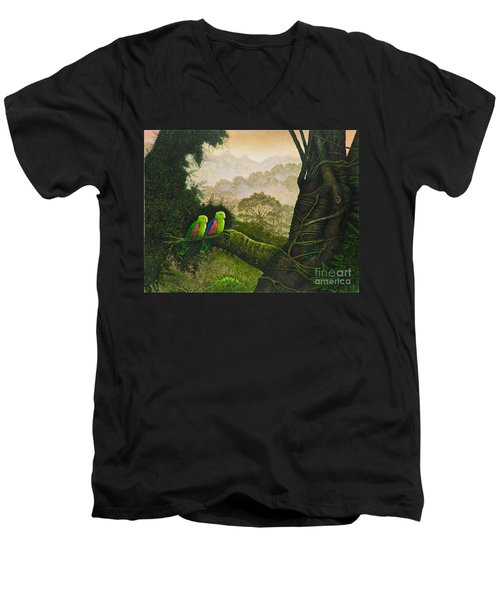 Romantique II Men's V-Neck T-Shirt