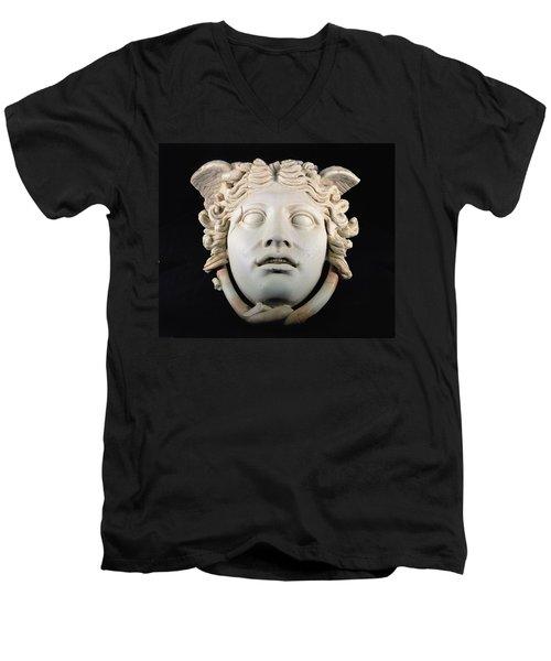 Rondanini Medusa, Copy Of A 5th Century Bc Greek Marble Original, Roman Plaster Men's V-Neck T-Shirt