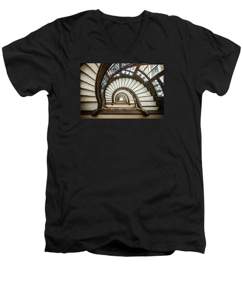 Rookery Building Oriel Staircase Men's V-Neck T-Shirt