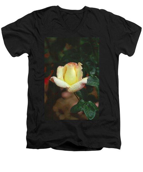 Rose 3 Men's V-Neck T-Shirt by Andy Shomock