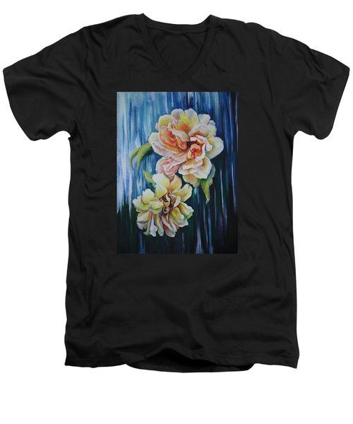 Rose Duo Men's V-Neck T-Shirt