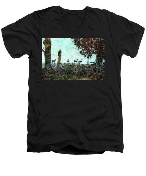 Rose Hill - Autumn Men's V-Neck T-Shirt by Ed Hall