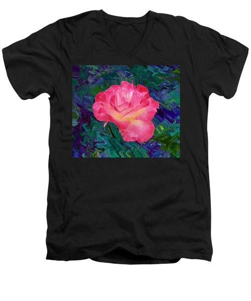 Rose In The Matter Of Your Hand V7 Men's V-Neck T-Shirt