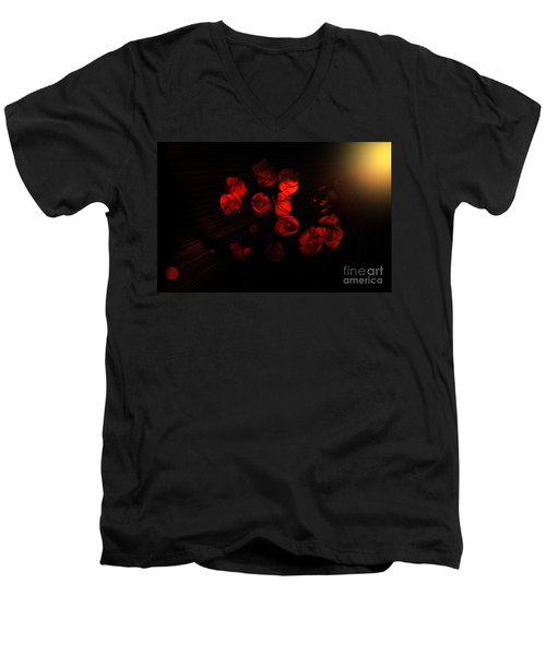 Roses And Black Men's V-Neck T-Shirt