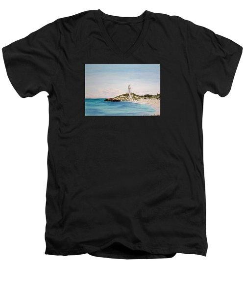 Rottnest Island Australia Men's V-Neck T-Shirt by Elvira Ingram