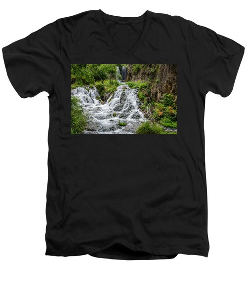 Roughlock Falls South Dakota Men's V-Neck T-Shirt