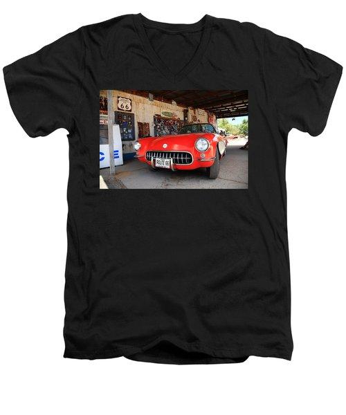 Route 66 Corvette Men's V-Neck T-Shirt