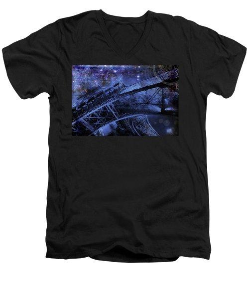 Royal Eiffel Tower Men's V-Neck T-Shirt
