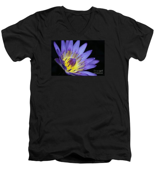 Royal Purple Water Lily #14 Men's V-Neck T-Shirt