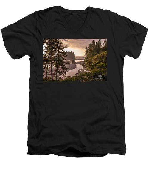 Ruby Beach Landscape Men's V-Neck T-Shirt