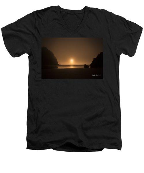 Ruby Beach Sunset Men's V-Neck T-Shirt