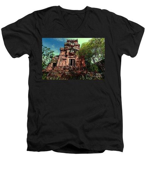Ruin At Angkor Men's V-Neck T-Shirt