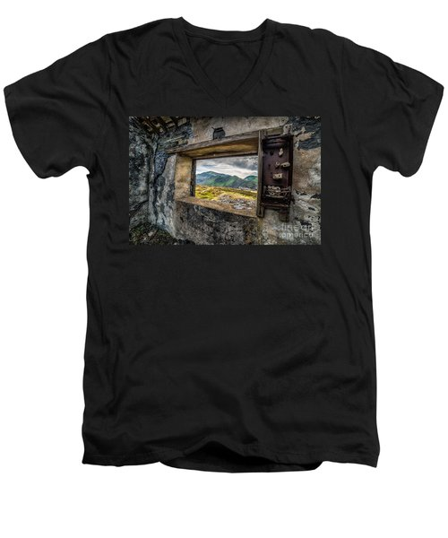 Ruin With A View  Men's V-Neck T-Shirt by Adrian Evans