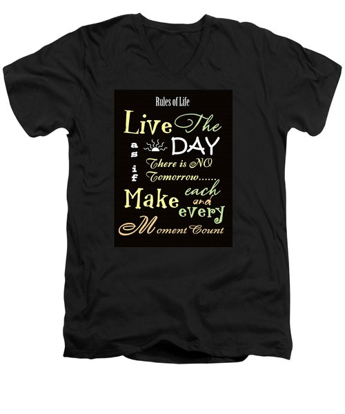 Rules Of Life Men's V-Neck T-Shirt