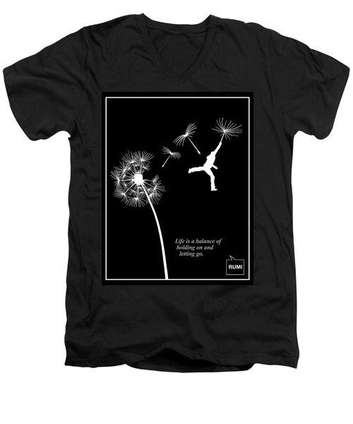 Rumi Inspirational Quote Men's V-Neck T-Shirt