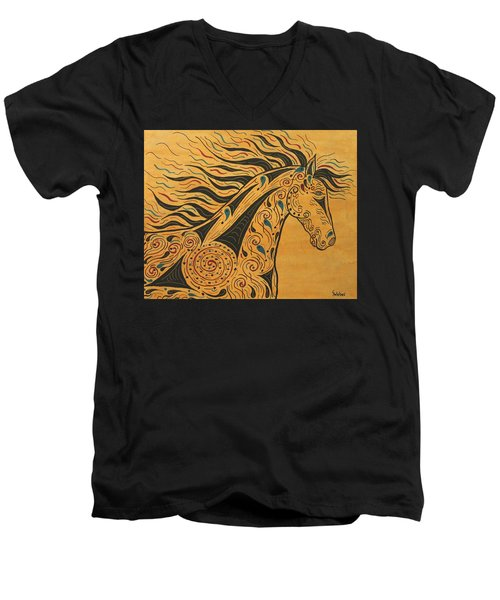 Runs With The Wind Men's V-Neck T-Shirt by Susie WEBER