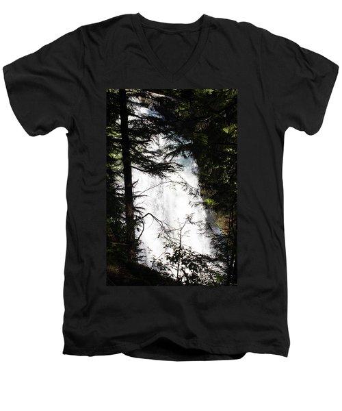 Rushing Through The Trees Men's V-Neck T-Shirt