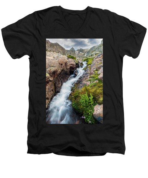 Rushing Thru Men's V-Neck T-Shirt