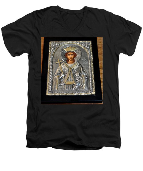 Russian Byzantin Icon Men's V-Neck T-Shirt