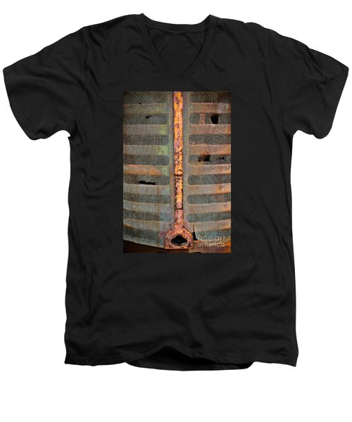 Rusted Grill - Abstract Men's V-Neck T-Shirt by Colleen Kammerer