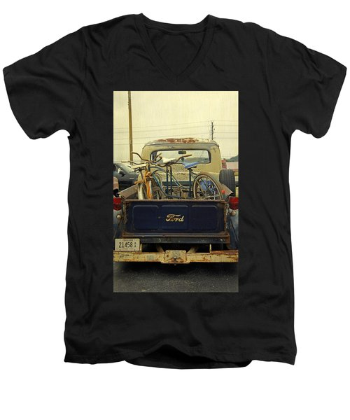 Rusty Haul Men's V-Neck T-Shirt by Laurie Perry