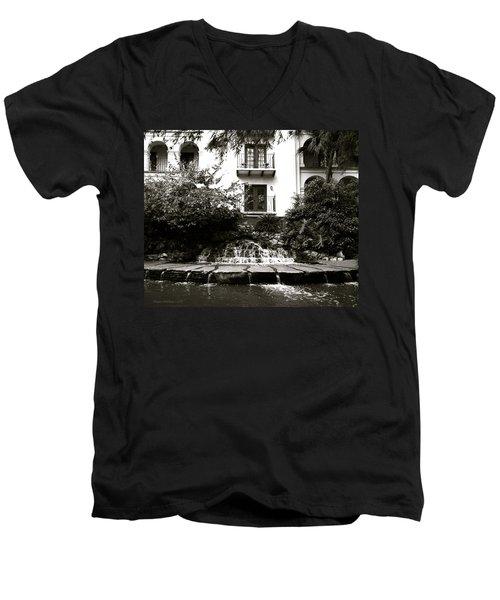 Sa River Walk 001-2013 Men's V-Neck T-Shirt