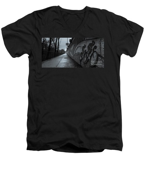 Sacramento River Trail At The Turtle Bay Park Men's V-Neck T-Shirt