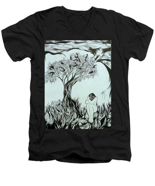 Sadness Men's V-Neck T-Shirt
