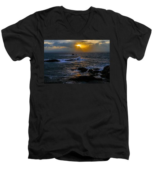 Sail Rock Sunrise Men's V-Neck T-Shirt