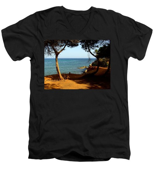 Sailing In Solitude Men's V-Neck T-Shirt