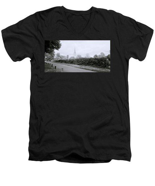 Salisbury Cathedral Men's V-Neck T-Shirt