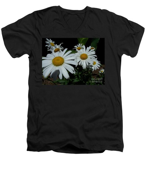 Men's V-Neck T-Shirt featuring the photograph Salute The Sun by Marilyn Zalatan