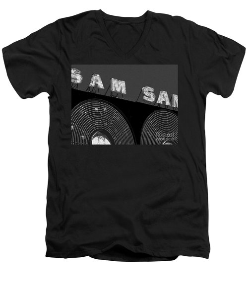 Sam The Record Man At Night Men's V-Neck T-Shirt