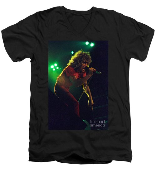 Sammy Hagar New Years Eve At The Cow Palace 12-31-78 Men's V-Neck T-Shirt