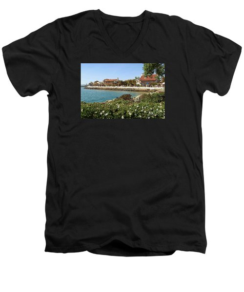 Men's V-Neck T-Shirt featuring the photograph San Diego Cute Place by Jasna Gopic