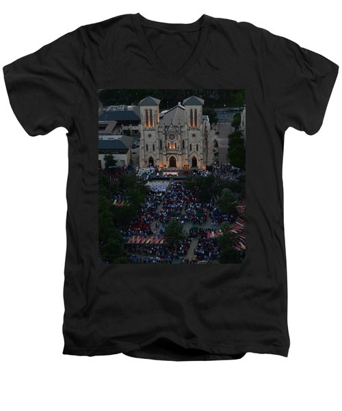 San Fernando Cathedral 001 Men's V-Neck T-Shirt by Shawn Marlow