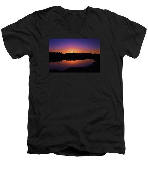 Men's V-Neck T-Shirt featuring the photograph San Francisco Daze by Sean Sarsfield